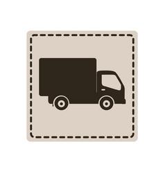symbol delivery car icon vector image vector image