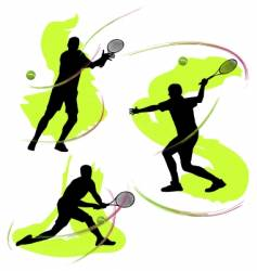 tennis graphics vector image vector image