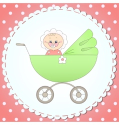 Child in a carriage vector image vector image