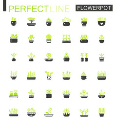 double color black green classic house plants and vector image vector image