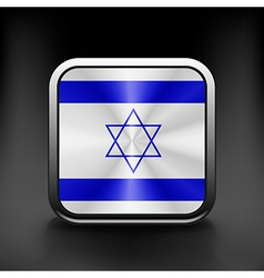 Israel icon flag national travel icon country vector image vector image