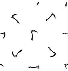 kama weapon pattern seamless black vector image vector image