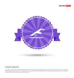 airplane accident icon - purple ribbon banner vector image