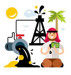 Arab petroleum industry saudi oil wealth vector