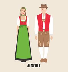 Austrians in national dress vector