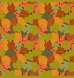 autumn leaves in cartoon style seamless pattern a vector image