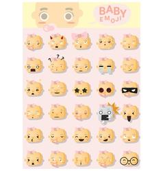 Baby emoji icons 2 vector