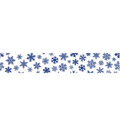banner of snowflakes with shadows vector image