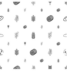 Barley icons pattern seamless white background vector