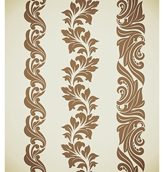 Baroque patterns vector image