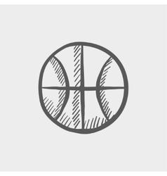 Basketball ball sketch icon vector image vector image