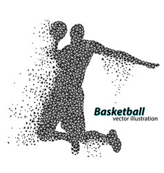 basketball player of the triangles vector image
