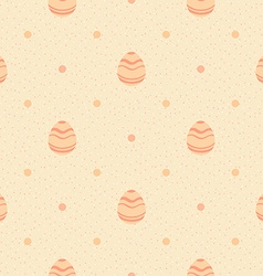 Beige polka dot pattern with ornate eggs vector image