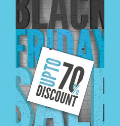 black friday price reduce realistic banner vector image