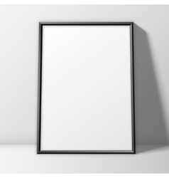 Blank White Poster Template vector