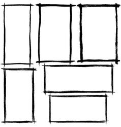 brush stroke frames vector image