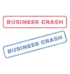 Business crash textile stamps vector