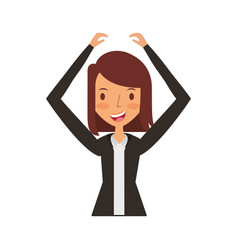 businesswoman avatar character icon vector image