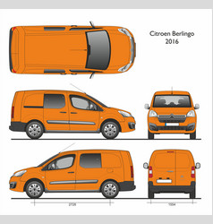 Citroen berlingo l2 2016 professional combi van vector