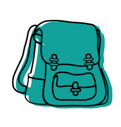 color school backpack education object design vector image