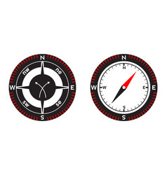 Compass pointer icon with white background vector