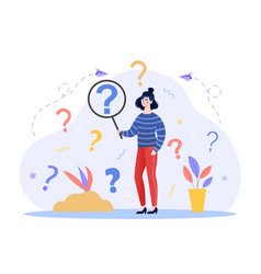 Concept of frequently asked questions vector