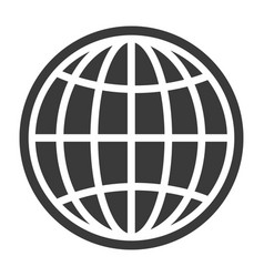 Contour globe black icon business travel symbol vector