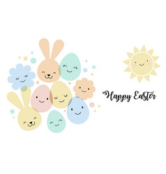 easter card banner and background design vector image