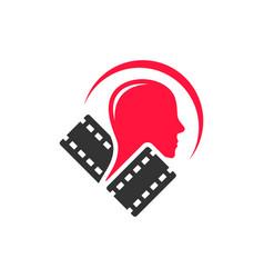 entertainment video footage logo vector image