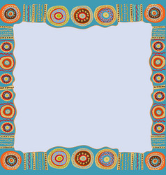 Ethnic hand painted square frame vector