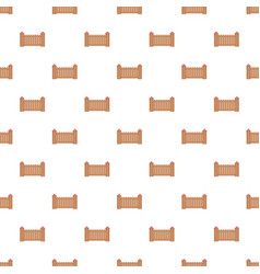 Fence with turret pattern seamless vector