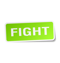 Fight square sticker on white vector