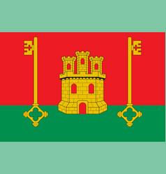 Flag rioja alavesa in basque country in spain vector