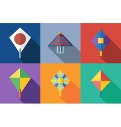 Flat icon kite vector
