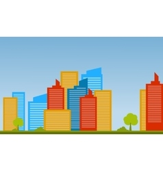 Flat of city landscape vector