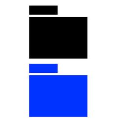 folder glyph icon vector image