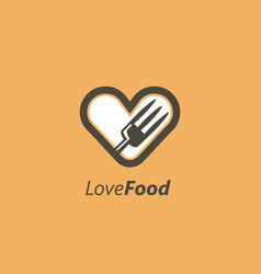 food lovers logo design concepts love food vector image