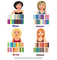 Four color types vector