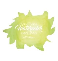 Green splash icon Watercolor design vector