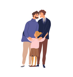 happy lgbt family hugging and feeling love vector image