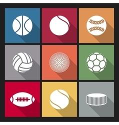 Icons balls vector