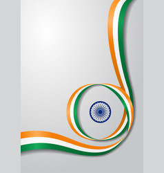 Indian flag wavy background vector