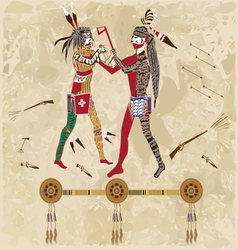 Indian war vector image