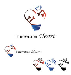 Innovation heart logo vector