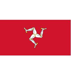 Isle man flag vector