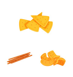 Isolated object food and crunchy symbol vector