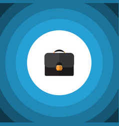 isolated suitcase flat icon briefcase vector image