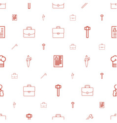 Job icons pattern seamless white background vector