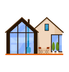Luxury architecture villa house isolated on white vector