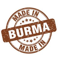 Made in burma vector